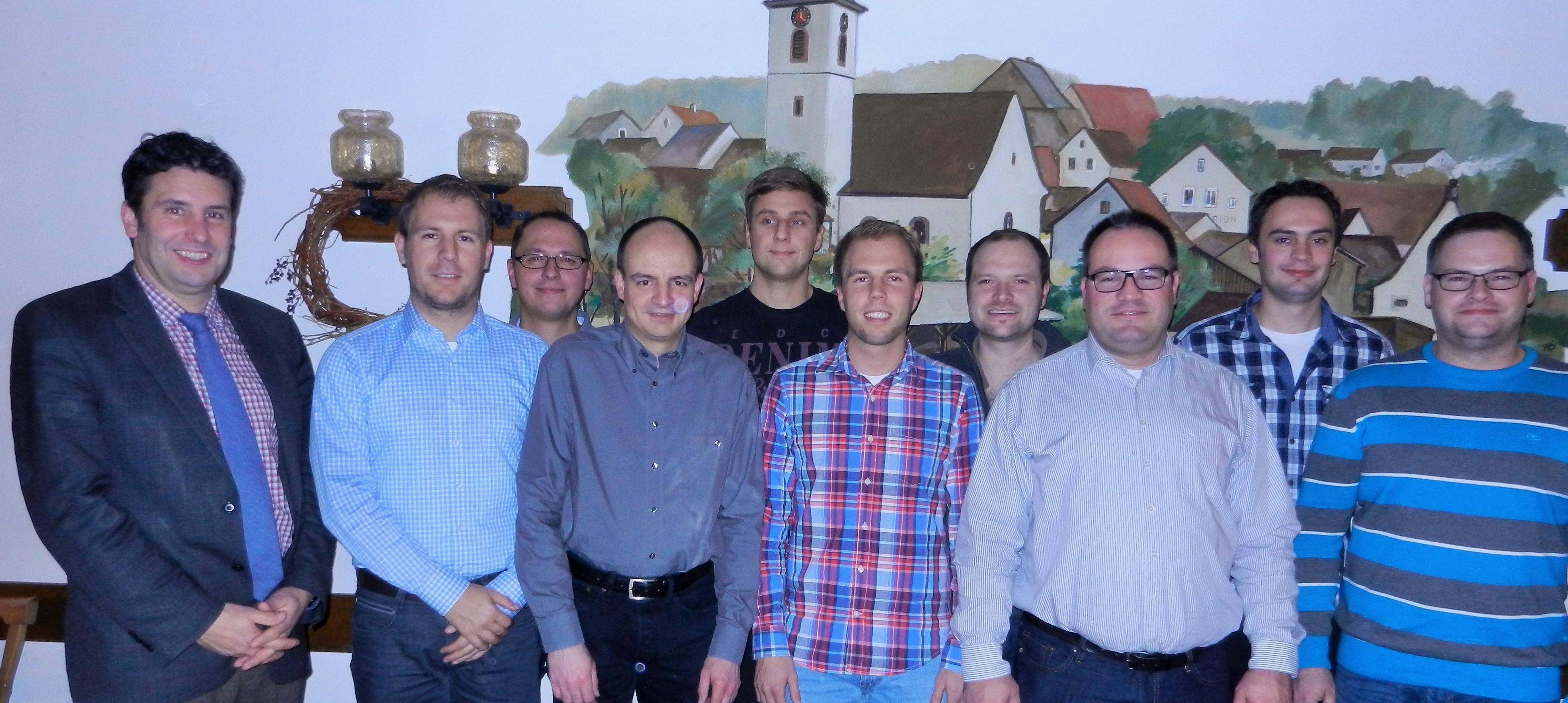 Die Vorstandschaft der Freiwilligen Feuerwehr Unterwittbach
